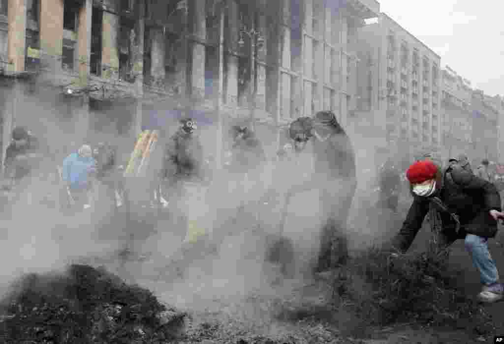 Kiyevin Azadlıq Meydanı - 20 yanvar, 2014
