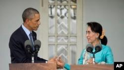 昂山素季2014年访问白宫