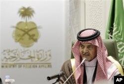 Saudiya Arabistoni Tashqi ishlar vaziri shahzoda Saud Al-Faysal