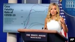 По словам пресс-секретаря Белого дома, уровень смертности от COVID-19 в США значительно снизился
