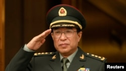 2009年10月當時擔任中國軍委副主席的徐才厚訪問華盛頓五角大樓(資料照片)