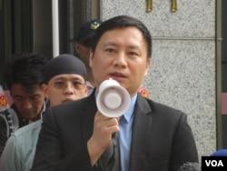 天安门六四学运领袖王丹(美国之音张永泰拍摄)