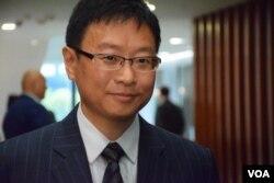 公民黨立法會議員陳家洛。(美國之音湯惠芸攝)