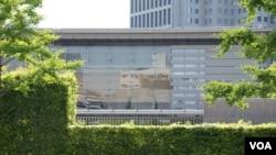 日本首相官邸本周二召集会议,决定了今后5年的《海洋基本计划》 (美国之音记者歌篮拍摄)