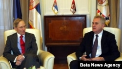 Predsednik Srbije Tomislav Nikolić i ambasador SAD u Srbiji Majkl Kirbi
