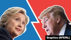 Capres partai Republik Donald Trump dan capres partai Demokrat Hillary Clinton akan memberikan pidato di kota Detroit, Michigan (foto: ilustrasi).