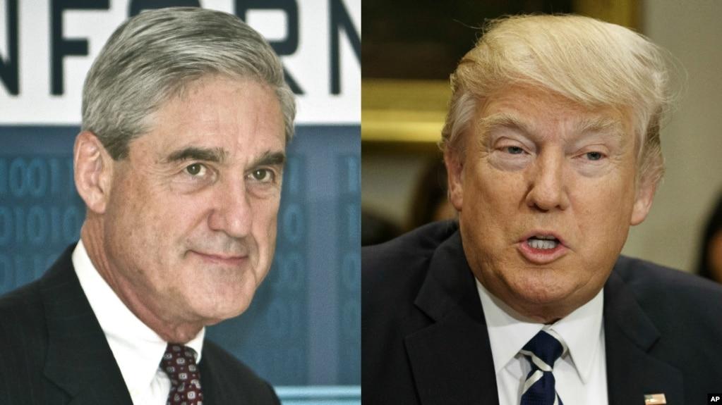 Ông Robert Mueller (trái) và Tổng thống Mỹ Donald Trump.