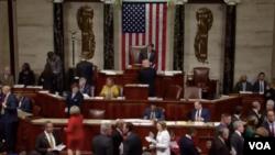 اعضای مجلس نمایندگان آمریکا با ۲۸۹ رای موافق در مقابل ۱۳۵ رای مخالف، این طرح را تصویب کردند.