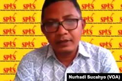 Sekretaris Jenderal Serikat Petani Kelapa Sawit (SPKS), Mansuetus Darto, dalam tangkapan layar. (Foto: VOA/Nurhadi Sucahyo)
