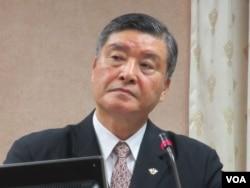 台湾国防部长高华柱(美国之音张永泰拍摄)