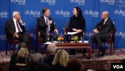 """美國亞洲協會在紐約舉行的""""向川普總統建言亞洲政策""""討論會(亞洲協會圖片,2016年11月10日)"""