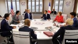 Les chefs d'états du G7 en réunion à Biarritz, le dimanche 25 août 2019 (Photo: Jeff J Mitchell/Pool via REUTERS)