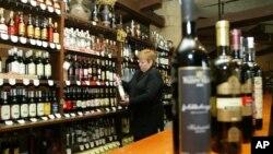 Prodavnica vina u gruzijskoj prestonici Tbilisiju