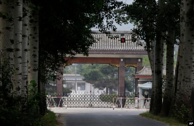 2012年8月31日,北京秦城監獄的入口。