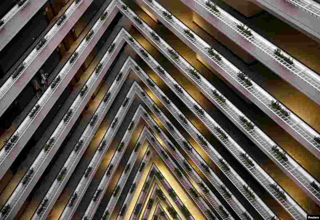صحنه ای از درون یک هتل و راهروهای آن در سنگاپور