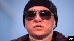 지난달 4일 모스크바에서 퇴원 기자회견을 가진 세르게이 필린 볼쇼이 극장 예술감독. (자료사진)