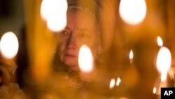 2015年11月8日为空难遇难者在圣彼得堡大教堂举行纪念服务