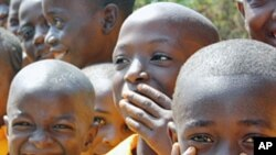 Primary school students in Waterloo, Sierra Leone (February, 2010)