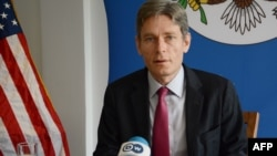 US Assistant Secretary of State for Democracy, Human Rights and Labor Tom Malinowski speaks during a press conference, on April 2, 2016 in Bujumbura.