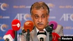 New Asian Football Confederation (AFC) President Sheikh Salman Bin Ebrahim Al Khalifa speaks during a news conference in Kuala Lumpur, Malaysia, May 2, 2013.