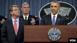 Presiden Obama di Pentagon, Washington DC (6/7).