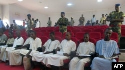 Boko Haram sitting in court in N'Djamena