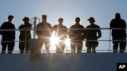 Hải quân Mỹ tại căn cứ Norfolk, Virginia. Hình minh họa.