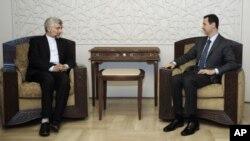 ເລຂາທິການຂອງສະພາຄວາມໝັ້ນຄົງແຫ່ງຊາດອິຣ່ານ ທ່ານ Saeed Jalili, ພົບກັບ ທ່ານ Bashar Assad