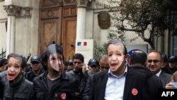 Türkiye'de Fransa aleyhine gösteri yapan eylemciler