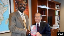 Angola Rafael Marques with Daniel Yamamoto under Sec of State for African Affairs (interimn)