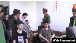 Các công dân Trung Quốc bị chính quyền Đà Nẵng bắt giữ hôm 6/6/2019. Photo Da Nang TV