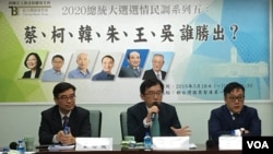 新台灣國策智庫3月18日公佈2020總統大選最新民調結果 (美國之音海倫)