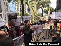 Người Việt ở Đài Loan biểu tình đòi quyền lợi cho nạn nhân Formosa.