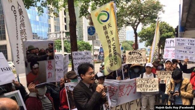 Người Việt ở Đài Loan biểu tình đòi quyền lợi cho nạn nhân Formosa