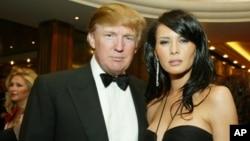 UMnu. Donald Trump loNkosikazi wakhe uMellania Trump