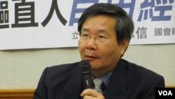 台联党立委许忠信(美国之音张永泰拍摄)