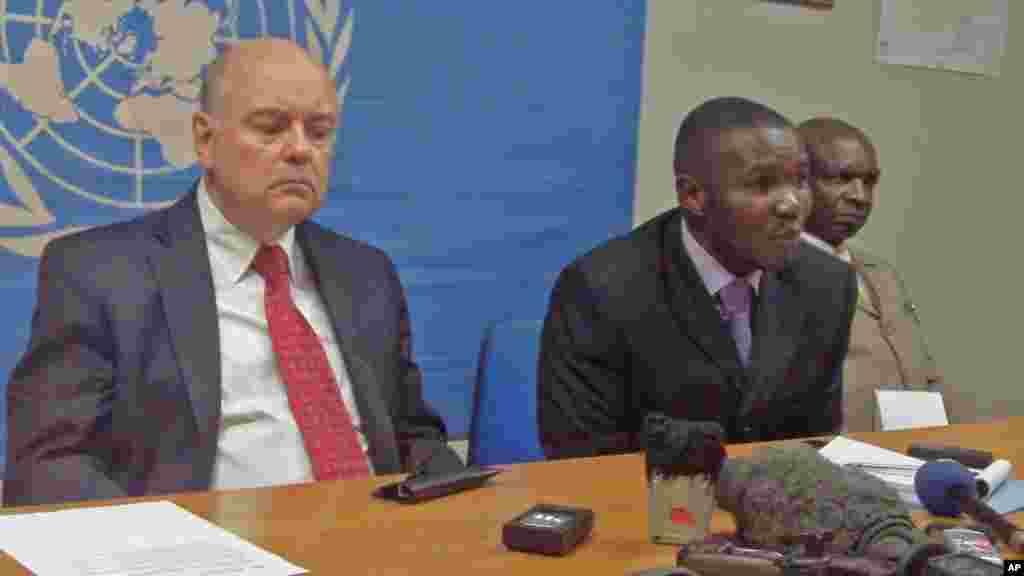Mwakilishi wa Umoja wa Mataifa DRC Rodgers Meece(kushoto) Gavana Kivu Kaskazini Julien Paluku