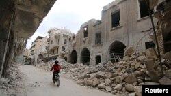 지난 5일 시리아 반군이 점령하고 있는 옛 알레포 시. (자료사진)