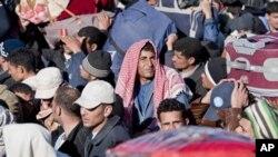 Izbjeglice na granici Libije i Tunisa