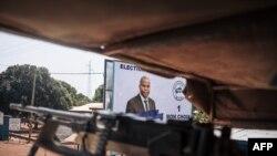 Commando ya Egypte ya misala mya ONU na Centrrafrique azali kokengele bisika biike na Bangui yambo na maponami, RCA, 25 décembre 2020