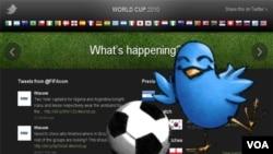 Desde la página del Mundial 2010 en Twitter se pueden buscar todos los tweets clasificados según el partido o equipo.