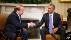 وزیر اعظم نواز شریف اور صدر براک اوباما وائٹ ہاؤس میں ملاقات کے بعد