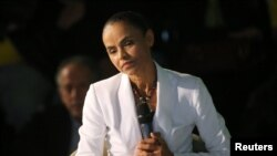 Presidential candidate Marina Silva of the Sustainability Network Party.
