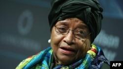 Ellen Johnson Sirleaf, présidente en exercice de la Cédéao.
