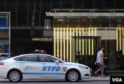 位于曼哈顿第三大道的纽约海航大厦。(美国之音章真拍摄)