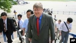 2007년 6월 북한과 핵 동결 조치를 협의하기 위해 평양을 방문했던 올리 하이오넨 전 IAEA 사무차장. (자료사진)