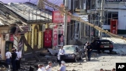本月較早前發生在達吉斯坦地區的另外一宗爆炸事件(資料圖片)