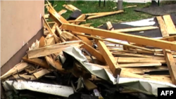 Era e fuqishme shemb pjesën e sipërme të spitalit në Tetovë