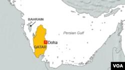 卡塔尔地理位置图