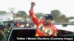 Visi Prezida wa Malawi Saulos Chilima atanguza umugambwe wiwe UTM mu 2018.
